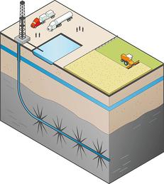 fracking illustration