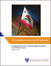California Env Legislation 2012 cover resized 168