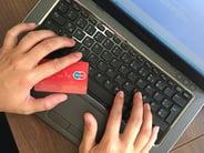Lap top credit card