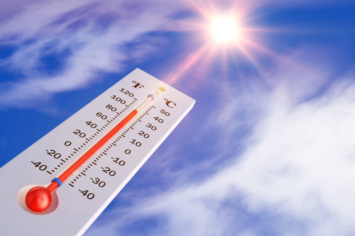 thermometer-background-sun-3d-rendering